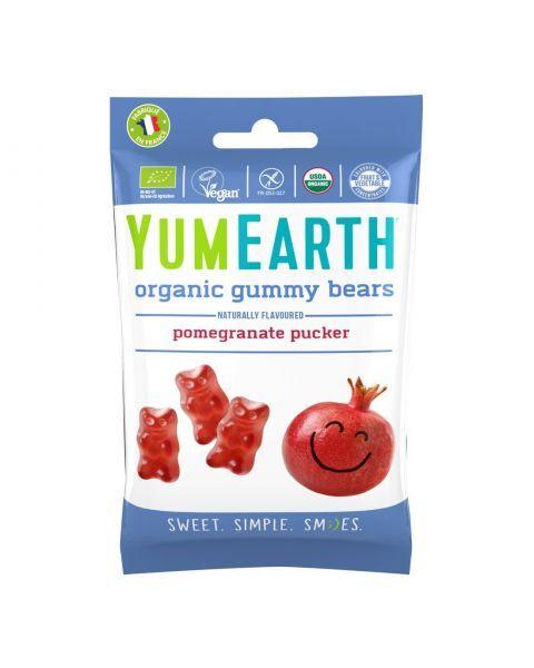 Ekologiški guminukai meškiukai YUMEARTH granatų skokio be gliuteno, 50 g