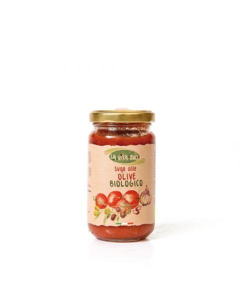Ekologiškas pomidorų padažas LA VITA BIO su alyvuogėmis, 190 g