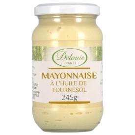 Ekologiškas majonezas DELOUIS su saulėgrąžų aliejumi, 245 g