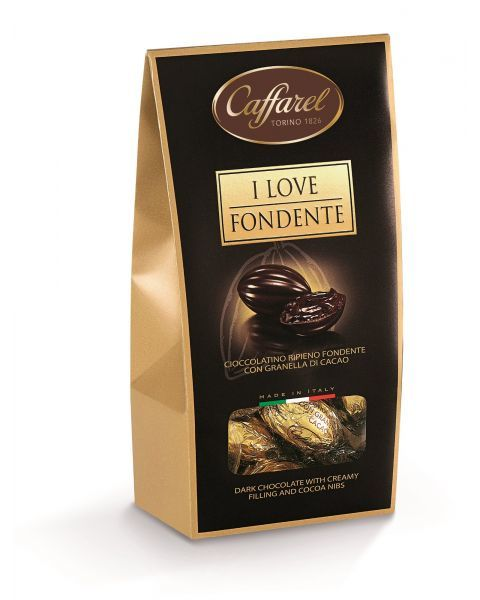 """Šokoladiniai saldainiai CAFFAREL """"I Love Dark"""", 110 g"""