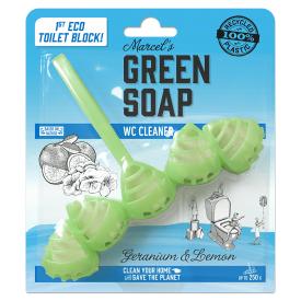 Pakabinamas tualeto valiklis MARCELS GREEN SOAP su pelargonijomis ir citrinomis, 1 vnt.