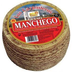 """Kietasis sūris D.O.P. MANCHEGO """"Los Carpinteros"""", paster. avių pieno, brand. 12 mėn, 50%rieb.,1kg"""