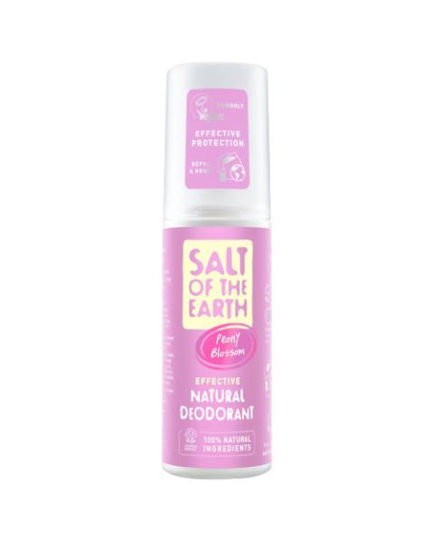 Natūralus purškiamas dezodorantas SALT OF THE EARTH su bijūnų žiedais, 100 ml