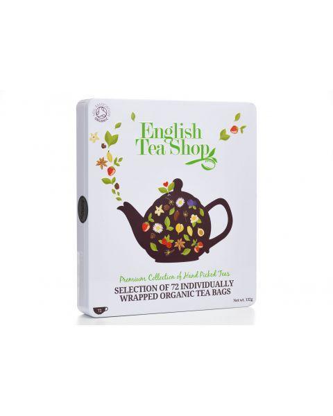 Ekologiškos arbatos rinkinys ENGLISH TEA SHOP Luxury, 72 maišeliai 2