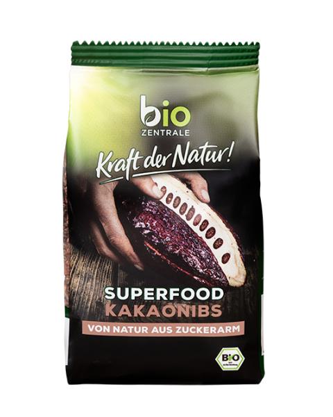 Ekologiškos skaldytos kakavos pupelės Fair Trade BIOZENTRALE, 200 g