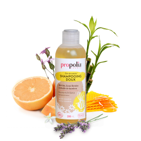 Švelnus plaukų šampūnas PROPOLIA, 200 ml