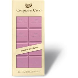 Rožinis šokoladas COMPTOIR du CACAO, 90 g