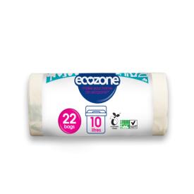 Suyrantys šiukšlių maišai ECOZONE, 10 L, 22 vnt