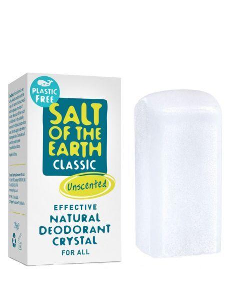 Bekvapis pieštukinis dezodorantas SALT OF THE EARTH, be plastiko 75 g