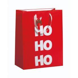 Dovanų maišelis ZOEWIE Ho Ho Ho (26x13.5x33.5 cm), 1 vnt.