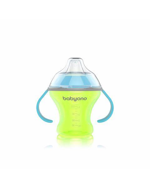 Neišsiliejantis puodelis BABYONO minkštu snapeliu vaikams nuo 3+ mėn., 180 ml (1456) 5