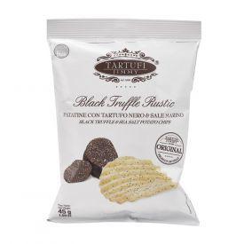 Bulvių traškučiai TARTUFI JIMMY, su juodaisiais trumais ir jūros druska, 45g
