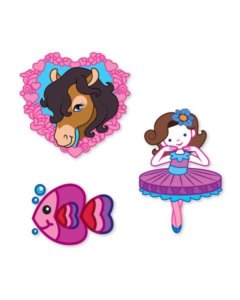 "Tatuiruočių rinkinys MELISSA & DOUG ""Rainbows, Fairies, Flowers & More"", 1 vnt. 3"