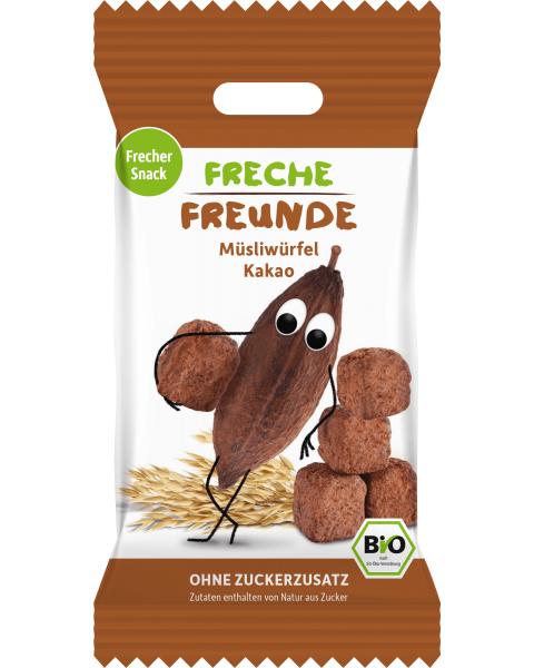 Ekologiški javų kubeliai FRECHE FREUNDE su kakava, 20 g