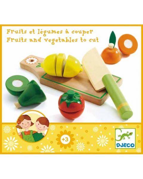 Medinis pjaustomų vaisių ir daržovių rinkinys DJECO vaikams nuo 3 metų (DJ06526)