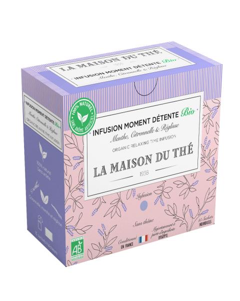 Ekologiška arbata LA MAISON DU THE Relaxing Time Infusion, 15 maišelių