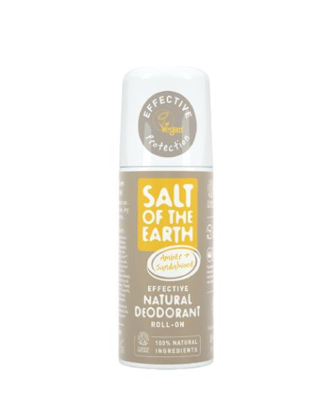 Natūralus rutulinis dezodorantas SALT OF THE EARTH su gintaru ir santalu, 75 ml