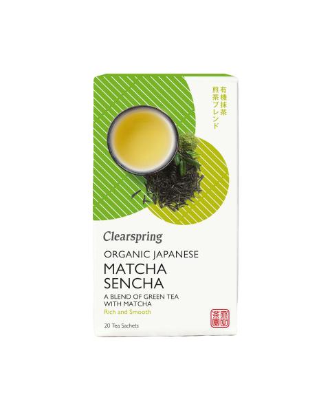 Ekologiška žalioji SENCHA MATCHA arbata CLEARSPRING, 20 maišelių