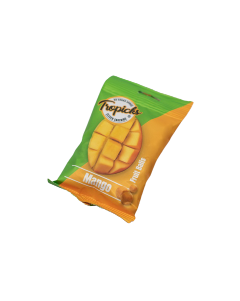 Džiovintų mangų rutuliukai TROPICKS, 54g