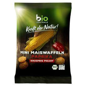Ekologiški mini kukurūzų traškučiai su paprika BIOZENTRALE, 50g