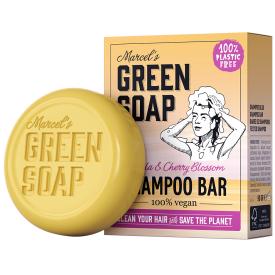 Kietas šampūnas MARCELS GREEN SOAP su vanile ir vyšnių žiedais, 90g