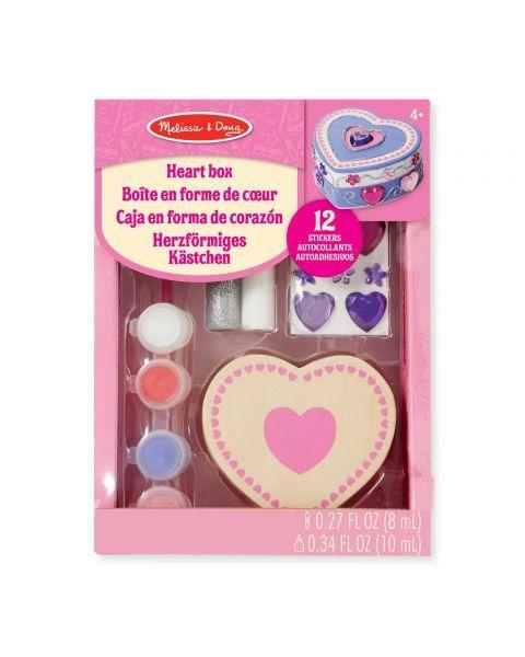 "Dėžutės dekoravimo rinkinys MELISSA & DOUG ""Heart"", 1 vnt."