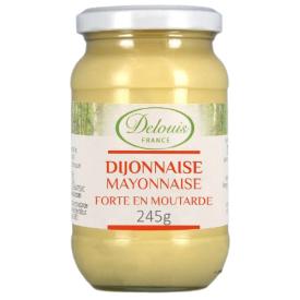 Ekologiškas majonezas DELOUIS su Dižono garstyčiomis, 245 g