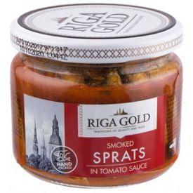 Šprotai pomidorų padaže RIGA GOLD stikle, 250 g