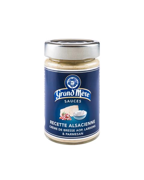 Elzaso padažas makaronams GRAND'MERE su grietinėle, 190 g