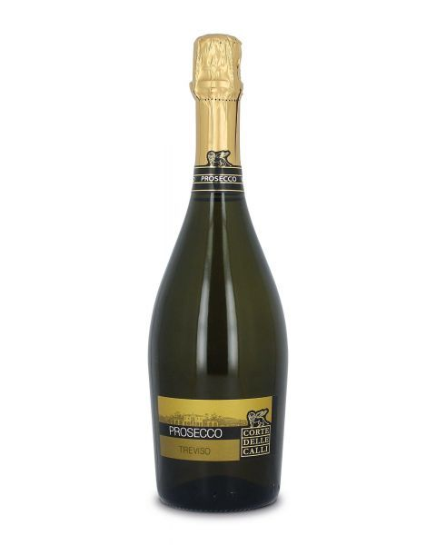 Baltasis putojantis sausas vynas Corte Delle Calli Prosecco Brut pagamintas Veneto regione, Italijoje