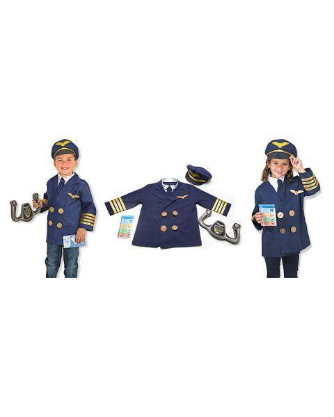 Piloto kostiumas ir aksesuarai MELISSA & DOUG, 1 vnt. 2