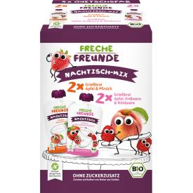 Ekologiškas tyrelių rinkinys FRECHE FREUNDE Dessert mix, 4x100 g.