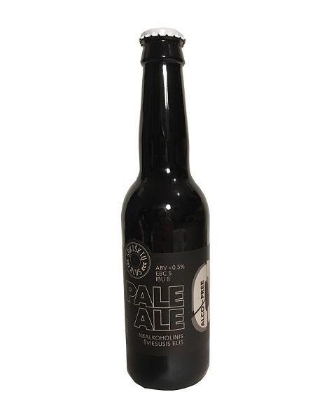 """Nealkoholinis alus SAKIŠKIŲ ALUS  """"Alco free Pale Ale/šviesusis elis"""", <0,5%, 330ml"""
