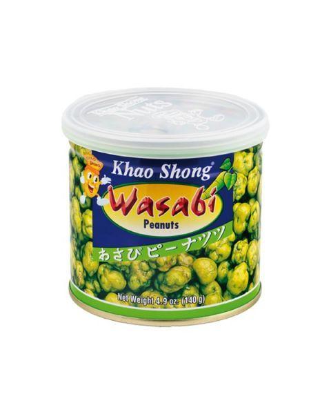 "Žemės riešutai ""Wasabi"" skonio apvalkale KHAO SHONG, 140 g"
