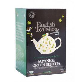 Ekologiška arbata ENGLISH TEA SHOP Green sencha, 20 maišelių