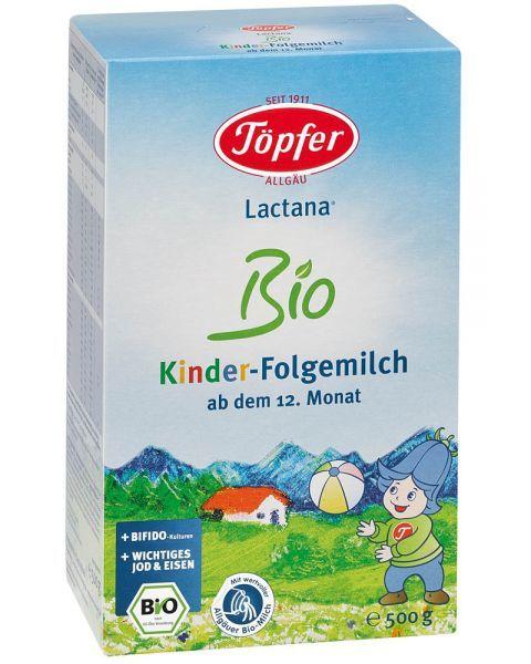 Ekologiškas tolesnio maitinimo pieno mišinys TÖPFER Lactana Bio 4 vaikams nuo 12 mėn., 500 g