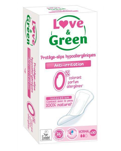 Ekologiški vidutinio dydžio kasdieniai įklotai LOVE&GREEN, 30 vnt.