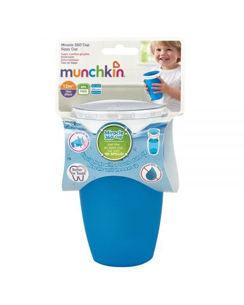 Mėlynas neišsiliejantis puodelis MUNCHKIN 360° Miracle 296 ml, nuo 12 mėn., 1 vnt 3