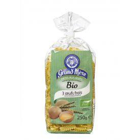 """Ekologiški makaronai su kiaušiniais GRAND'MERE BIO """"Lasagnettes"""", 250 g."""