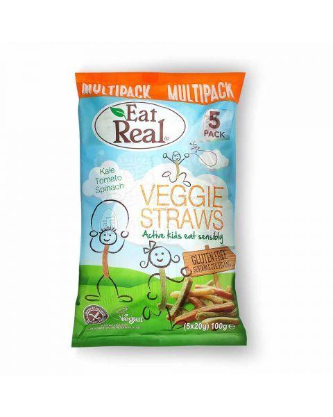 Traškios juostelės vaikams EAT REAL Kiddie, 5x20g
