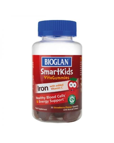 Geležies maisto papildai-guminukai vaikams SMARTKIDS, 30 vnt.