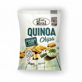Bolivinės balandos (kynvos) traškučiai su grietinėle ir laiškiniais česnakais EAT REAL, 30g