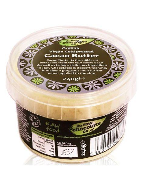 Ekologiškas kakavos sviestas RAW CHOCOLATE, 240 g
