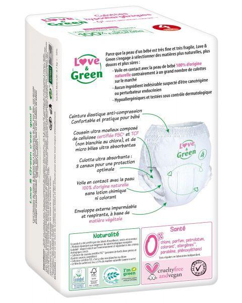 Ekologiškos sauskelnės-kelnaitės LOVE&GREEN, 4 dydžio, 8-15 kg, 20 vnt. 2