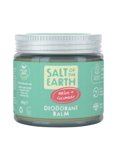 Natūralus tepamas dezodorantas SALT OF THE EARTH su melionais ir agurkais, 60g