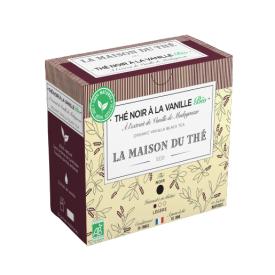 Ekologiška juodoji arbata LA MAISON DU THE Vanilla Black Tea, 15 maišelių