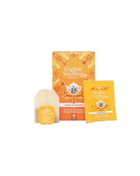 Ekologiška arbata ENGLISH TEA SHOP  Turmeric (Curcuma),  Ginger & Lemongrass , 20 maišelių 2