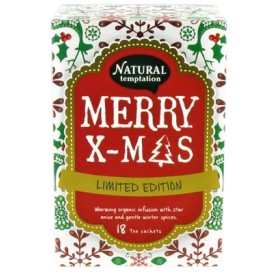 Ekologiška arbata NATURAL TEMPTATION Merry X-Mas, 18 maišelių