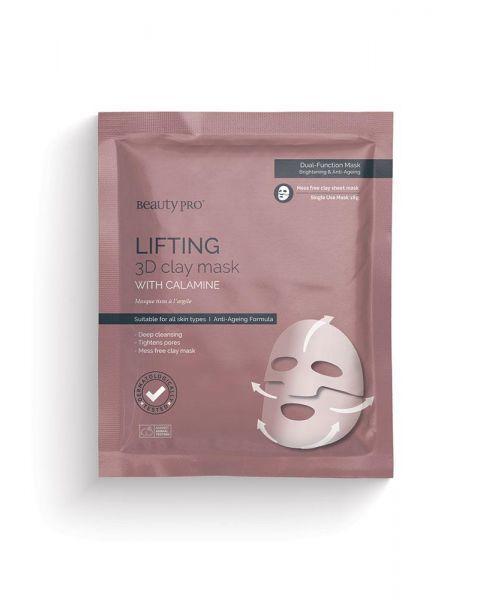 Liftinguojanti veido kaukė BEAUTY PRO su kalaminu, 18 g