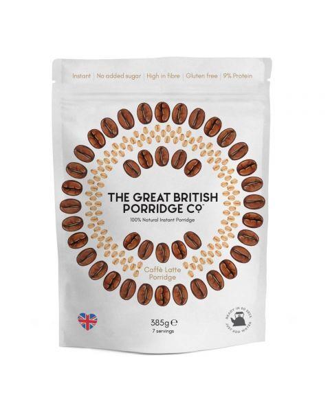 Greito paruošimo avižinė košė THE GREAT BRITISH PORRIDGE Latte kavos skonio, 385 g